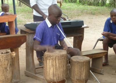 The blind drummer
